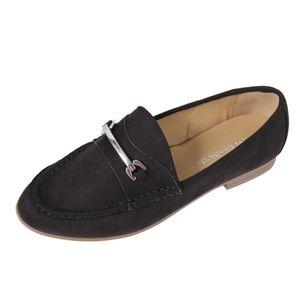 Shoes - Black Silver Tone Horse Bit Loafer Slip on Sandal